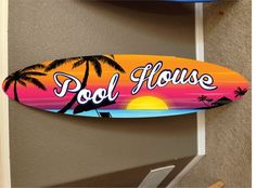 Surfboard Painting, Surfboard Decor, Pool Signs, Beach Signs, Patio Signs, Wood Wall Decor, Coastal Decor, Art Boards, Penny Boards