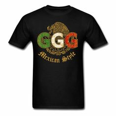GGG Canelo Alvarez Gennady GOLOVKIN BOXING God of War Tee Shirt Black large