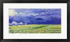 Wheatfields+under+Thunderclouds,+1890+at+FramedArt.com