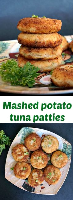 Easy Tuna and Potato Patties Mashed potato tuna patties, the ideal last minute appetizers to feed a crowd. Great for picnics, parties, or just a healthy back to school bite, these easy healthy appetizers is all you need. Canned Tuna Recipes, Potato Recipes, Cooking Recipes, Tuna Fish Recipes, Canned Meat, Tuna Patties, Potato Patties, Healthy Appetizers, Healthy Snacks