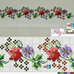 Cross Stitch Embroidery, Cross Stitch Patterns, Hungarian Embroidery, Cloth Flowers, Cross Stitch Flowers, Needlework, Diy And Crafts, Projects To Try, Sewing