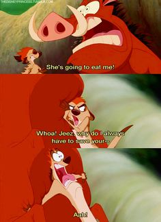 Timon and Pumbaa's sexy talk, 'The Lion King' - Hidden Adult Jokes in Disney Movies That Will Ruin Your Childhood - Photos Funny Disney Memes, Disney Jokes, Disney Cartoons, Old Disney, Disney Fun, Disney Magic, Disney Stuff, Disney And Dreamworks, Disney Pixar