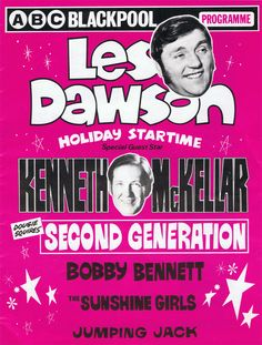 Les Dawson & Others at the ABC Blackpool. The Two Ronnies, Les Dawson, Blackpool England, Morecambe, British Comedy, Great British, Jumping Jacks, Artists Like