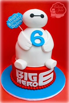 Baymax cake - For all your cake decorating supplies, please visit craftcompany.co.uk