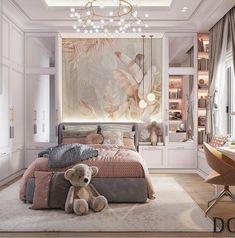 Luxury Kids Bedroom, Luxury Bedroom Design, Room Design Bedroom, Room Ideas Bedroom, Home Room Design, Kids Room Design, Bedroom Decor, Interior Design, Rich Girl Bedroom