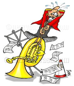 Stuck valves and slides on brass instruments (especially the big instruments) can lead to hernias and other horrific strain injuries