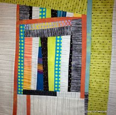 Some of the most gorgeous contemporary quilts I have EVER seen! She also has a great tutorial for QAYG.