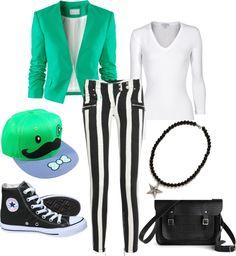 """The Joker Green"" by rhiana-field ❤ liked on Polyvore"