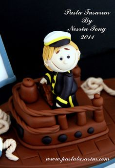 SAILBOAT CAKE - BARAN BIRTHDAY CAKE by CAKE BY NESRİN TONG, via Flickr