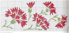 MEU AMOR POR PONTO CRUZ: FLORES PARA ALEGRAR NOSSO JARDIM. Cross Stitch Boards, Simple Cross Stitch, Beaded Cross Stitch, Cross Stitch Designs, Cross Stitch Patterns, Embroidery Patterns, Hand Embroidery, Crochet Motifs, Bargello