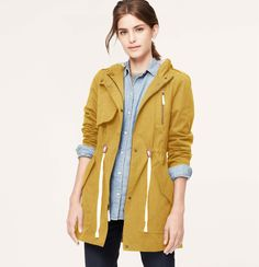 Coated Long Anorak | Loft –like some mustard with that?