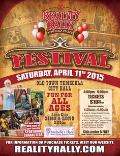 Reality Rally 2015 is here and I have discount tickets to the Wilson Creek event, the race, and children's activities on the weekend here!