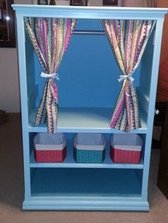 UPcycle an old oak entertainment center into a dress-up cabinet :) #upcycle #oldentertainmentcenter #dressupcabinet #dressup