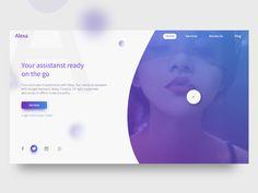 Alexa - Assistant Companion Web UI Design