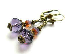 Ohrschmuck - Ohrringe *Violett* - ein Designerstück von PerlenKULT bei DaWanda