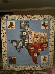 Most of you know that I have designed a pattern called God Bless Texas. This is the original quilt. Then last year when I the Quilt Acro. Marshall Pottery, Texas Quilt, Texas Crafts, Applique, Texas Pride, Quilt Patterns, Quilting Ideas, Custom Aprons, Sampler Quilts