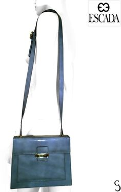 Escada Authentic Women Turquoise Box Design Patent Leather Crossbody Bag Purse #ESCADA #CrossBody Box Design, Leather Crossbody Bag, Patent Leather, Purses And Bags, Wallets, Glamour, Turquoise, Shoulder Bag, Handbags