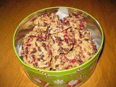 Biscuits aux canneberges, gruau et chocolat   Recettes du Québec
