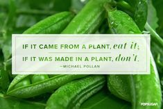 If it came from a plant, eat it. If it was made in a plant, don't.