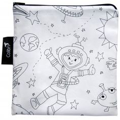 Colibri Color Your Own Reusable Snack Bag Space Large - Canada's Baby Store Eco Kids, Sandwich Bags, Fabric Markers, Snack Bags, Back To School Shopping, Baby Store, Reusable Bags, Tween, Snoopy