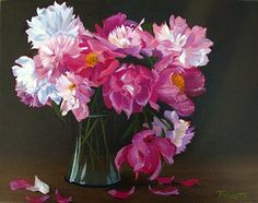 Peony Bouquet by Ann Trusty, oil painting.