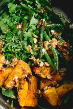 Thai Beef Salad with Caramelised Pumpkin & Green Beans