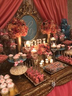 Classy Bridal Shower Cake Dessert Tables New Ideas Quince Decorations, Bridal Shower Decorations, Wedding Decorations, 18th Birthday Party Ideas Decoration, Candy Table, Candy Buffet, Deco Candy Bar, Unique Bridal Shower, Sweet 15