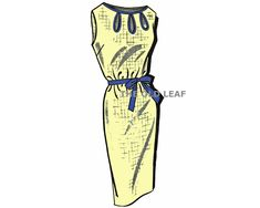 Sewing Pattern for 1960s Dress with Keyhole Neckline, Mail Order 1-429 #MailOrderPatterns #1960sDressPatterns #KeyholeDress #KeyholeNeckline #PlusSizePatterns #Dressmaking #TheOldLeaf