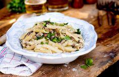 Krämig pasta med svamp och tryffelolja