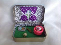 Cat/Kitten Altoids Tin Toy Squinkies,Altoids Playset/ Quiet Time Tin, Travel Toy