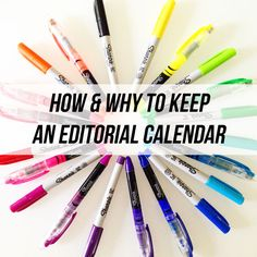 Why and how to use an editorial calendar for blogging!