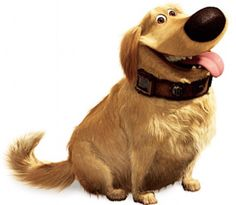 Dug the Dog from Up the 2009 Disney- Pixar movie.