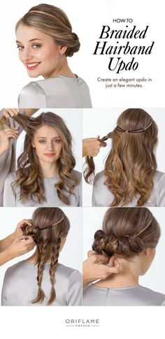A quick and easy braided updo tutorial. The perfect fallback style for the Monday morning rush.