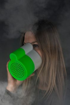 POUMON is a pen holder for your desk that also contains a filter to allow you to breathe in case of a fire or dust cloud.