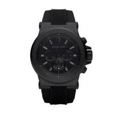@Overstock - A black silicone strap defines this uniquely handsome Michael Kors watch. The men's timepiece is finished with a clean, black dial.http://www.overstock.com/Jewelry-Watches/Michael-Kors-Mens-MK8152-Black-Silicone-Strap-Watch/5336904/product.html?CID=214117 CAD              257.26