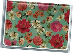 Card Case / Mini Wallet  Vintage Rose Credit by rabbitholeonline