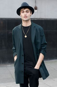 douglas booth in a lightweight jacket