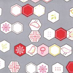Sew Stitchy from Aneela Hoey for Moda hexagon by poppyseedfabrics, $5.00