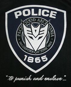 Decepticon Barricade Police Insignia