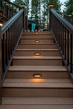 Three reasons to light your outdoor living space decking deck timbertech riser lights will help lead you safely to your home from your backyard deck or garage mozeypictures Image collections