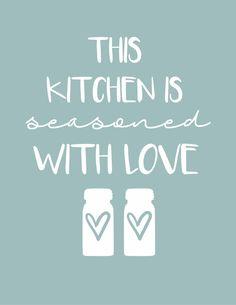 Farmhouse Kitchen Printables+Aqua Kitchen Decor - The Mountain View Cottage Kitchen Quotes, Kitchen Signs, Kitchen Art, Kitchen Shower, Kitchen Humor, Kitchen Colors, Kitchen Stuff, Farmhouse Kitchen Decor, Home Decor Kitchen