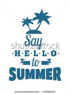 Retro hand drawn summer logo elements badge font designs. Vintage summer logo ornament. Summer logo holidays tropical paradise,…