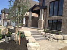 Platinum Stone Design - Permacon Lafayette Wall Sheffield Beige, Amalfi Pavers Chatham Beige , Banas Slate Grey Steps with Beige Armour stone. Stone Landscapes Inc. WATERLOO (Head Office): 650 Weber Street, North, Waterloo, Ontario, N2V 2N2 Phone: 519.888.9992 KITCHENER (Distribution): 68 Webster Road, Kitchener, Ontario, N2C 2E6 Phone: 519.894.9997