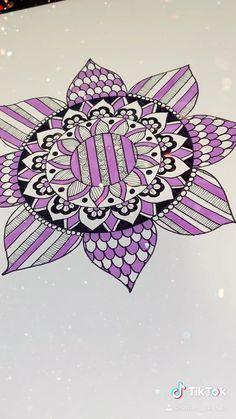 #tiktok #art #mandala #zentangle Easy Mandala Drawing, Mandala Doodle, Simple Mandala, Mandala Art Lesson, Doodle Art Drawing, Mandala Artwork, Zentangle Drawings, Mandala Painting, Zentangle Patterns