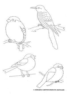 Графомоторика: проведи дорожки. Птицы