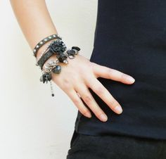 """Gorgeous punky bracelet from shop owner """"staroftheeast"""" on Etsy!"""