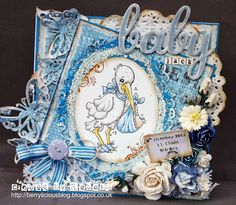 Baby card Magnolia stamps