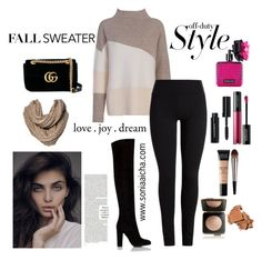 """""""Off Duty !"""" by soniaaicha on Polyvore featuring Victoria's Secret, MAKE UP FOR EVER, French Connection, Beta Fashion, Merona, Gucci, Urban Decay, Estée Lauder and Bobbi Brown Cosmetics"""