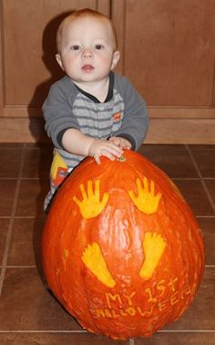 Pumpkin Ideas for Baby's First Halloween | Holiday Favorites