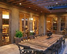 Mediterranean Classic Home Style that Attracts Your Attention : Rustic Patio Wit… Mediterranean Classic Home Style that Attracts Your Attention : Rustic Patio With Reclaimed Wood Dining Table Bay Area Residence http://www.coolhomedecordesigns.us/2017/11/27/mediterranean-classic-home-style-that-attracts-your-attention-rustic-patio-wit/